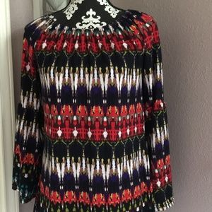 WIN WIN Boho Knit Tunic Top Bell Sleeves S-M